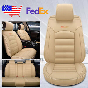 Car Auto Suv Leather Seat Covers Set Kit For Volkswagen Golf Jetta Passat Beige