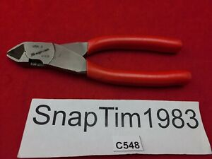 Snap On Tools 7 1 2 Red Diagonal Cutter Pliers 87cf