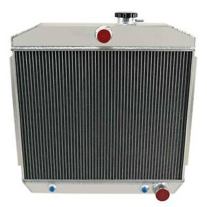 Fit For 1955 56 57 Chevy Bel Air Nomad V8 4 Row Aluminum Racing Radiator