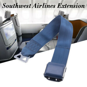 Airplane Seat Belt Extension For Southwest Airplanes Type B Faa Compliant Blue