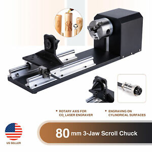 Rotary Axis W 3 jaw Chuck 2 Phase Stepper Motor Co2 Laser Engraver Machine