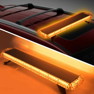 72 Led 38 Amber Strobe Light Bar Emergency Beacon Warn Top Roof Truck Response