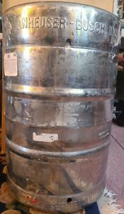 Anheuser Busch Empty Beer Keg Stainless Steel 15 5 Gallons