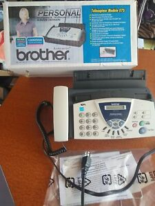 Brother Model 575 Personal Plain Paper Fax Phone Copier Machine Very Clean W box