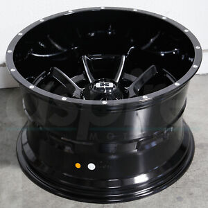 20x10 Black Milled Wheels Vision 415 Bomb 5x150 25 Set Of 4