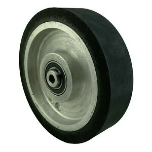 8 Smooth Black Rubber Contact Wheel Dynamic Balance For Belt Grinder