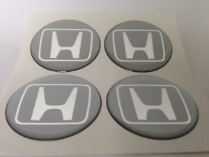 New 4pcs Silicone Stickers For Wheel Centre Cap Hubs For Honda 60mm