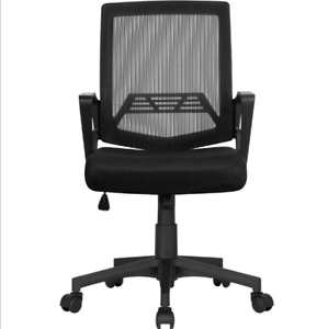 With Casters Office Chair Ergonomic Height Adjustable Computer Chair