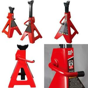 Big Red T41202 Torin Steel Jack Stands 12 Ton 24 000 Lb Capacity Red 1 Pair