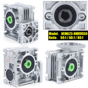 For Nema23 030 Reduction Stepper Motor 50 1 60 1 80 1 Worm Gearbox Speed Reducer