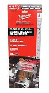 Milwaukee 48 39 0601 Extreme Thick Metal Band Saw Blades 3 pack