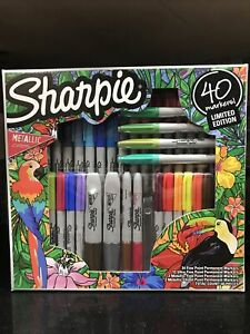 Sharpie Markers 40 Count Limited Edition Set New Free Shipping