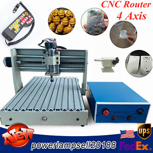 Usb 4axis Cnc 3040 Router Engraver 3d Pcb Engraving Drilling Machine 400w W Rc