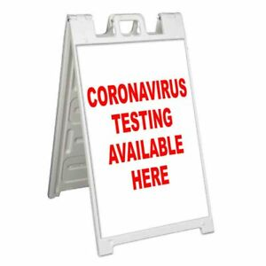 Virus Testing Available Here Signicade 24x36 A Frame Sidewalk Sign Flu Vaccine