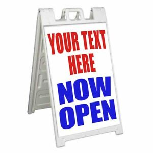 Custom Your Text Here Now Open Signicade 24x36 A Frame Sidewalk Sign
