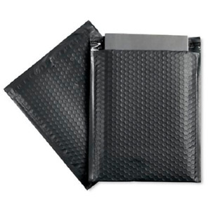 100 5 10 5 x16 Black Poly Bubble Padded Envelopes Mailers Shipping Case