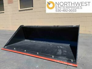 Skid Steer Large Smooth Loading Bucket 72 72 Brand New W Bolted Edge