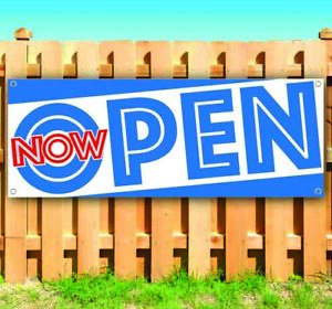 Now Open Advertising Vinyl Banner Flag Sign Many Sizes Usa Grand Opening