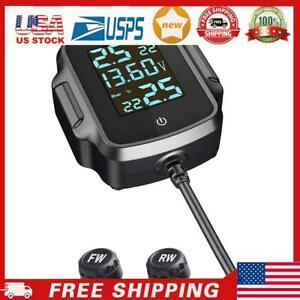 Motorcycle Tpms Tire Pressure Monitoring System With Qc 3 0 Usb Charger Usa