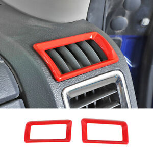 Center Console Air Vent Outlet Cover Trim Frame For Dodge Ram 1500 2010 2017 Red