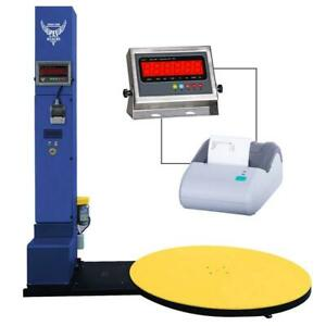 Pec Scales Stretch Wrap Machine Electric Pallet Wrapper With Built in Scale And