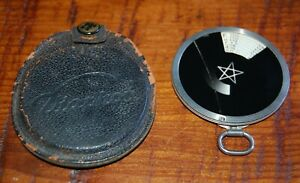 Vintage Zeiss Ikon Diaphot Exposure Meter Photometer With Leather Storage Case