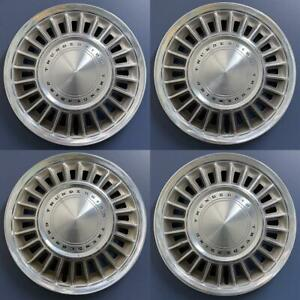 1967 1968 Ford Thunderbird 633 15 Hubcaps Wheel Covers Oem C7sz 1130a Set 4