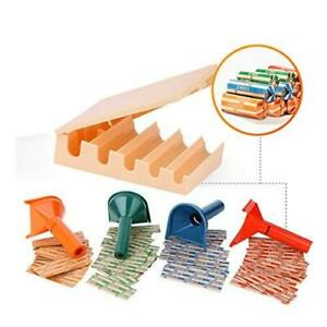Coin Counters Tray 4 Color coded Coin Sorters Tubes Bundled With 100 count Ass