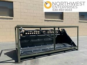 Skid Steer 72 4in1 With Bolt On Cutting Edge 4 in 1 Bucket Smooth New