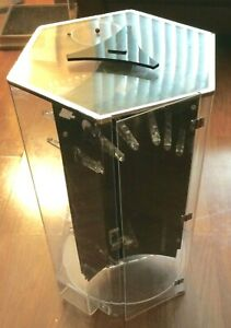 Stand up Display Jewelry Case 3 Sides no Key local Pick Up Only Lots Of Capacity