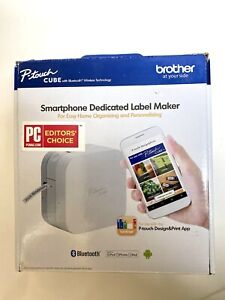 Brother P touch Cube Smartphone Label Maker Bluetooth Wireless Technology New