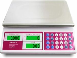 Gripx Electronic Computing Digital Price Scale 66lb 30kg Food Meat Fruit Produce