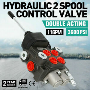 Hot 2 Spool Hydraulic Directional Control Valve For Tractor Loader With Joystick