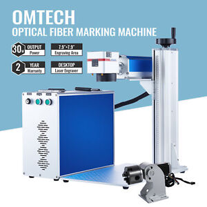 30w Split Fiber Laser Marking 7 9 x7 9 Metal Marker Engraver With Rotary Axis
