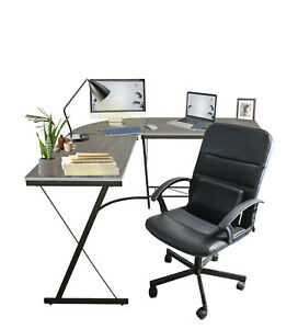 Home Office L shaped Corner Computer Gaming Desk 52 Pc Study Table Workstation