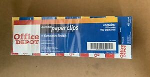 Office Depot Jumbo Paper Clips Smooth Finish 10 Boxes 100 Clips box