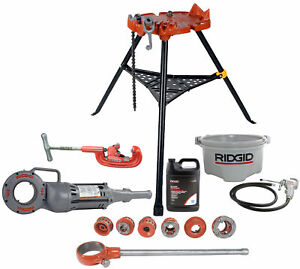 Reconditioned Ridgid 700 12r Kit 2a Cutter 460 Stand New 418 Oiler With Oil