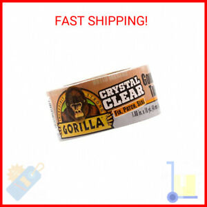 Gorilla Crystal Clear Duct Tape 1 88 X 18 Yd Clear Pack Of 1 Free Shipping