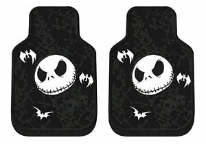 New 2pc Nightmare Before Christmas Jack Head Car Truck Front Rubber Floor Mats