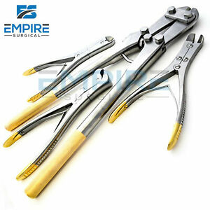 4 Pin Wire Cutter Set Tc Jaw Orthopedic Surgical Pliers Veterinary