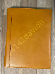 Tumi Tan Leather Portfolio For 8 5 x11 Letterpad With Pockets And Pen Holder