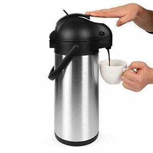 101 Oz 3l Airpot Thermal Coffee Carafe And Coffee Server lever Action