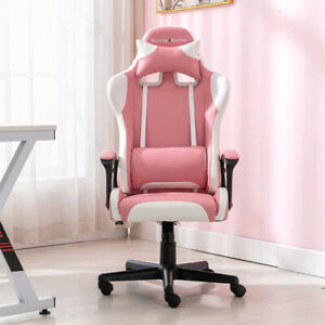 Ergonomic Gaming Chair Home Office Pc Swivel Chair High back Task Chair Leather