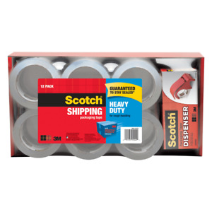 Scotch Heavy duty Shipping Packing Tape With Dispenser 1 7 8 X 54 6 Yd Pack