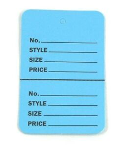 300 Blue Large 2 75 x1 75 perforated Unstrung Price Consignment Store Tags