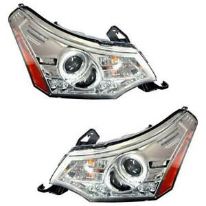 Fits Ford Ford Focus 2008 2011 Halo Projector Headlights Chrome