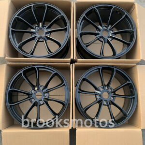 19 New Staggered Gloss Black Style Forged Wheels Rims Fit Porsche 911 Turbo S