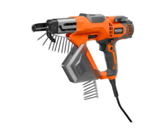 New Ridgid R6791 Corded 3 Inch Drywall And Deck Collated Screwgun Driver