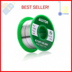 Austor 1 5mm Lead Free Solder Wire With Rosin Core Sn 99 Ag 0 3 Cu 0 7 100g