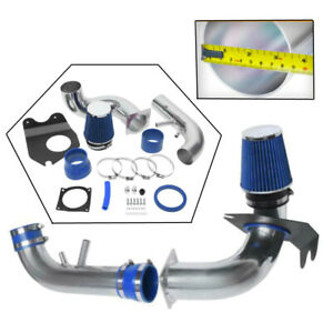 Gt 4 6l V8 3 5 Cold Air Intake System Kit Blue Filter For 96 04 Ford Mustang
